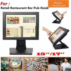 15/17'' inch Touchscreen LCD VGA POS Touch Screen Monitor Stand Retail Kiosk BP