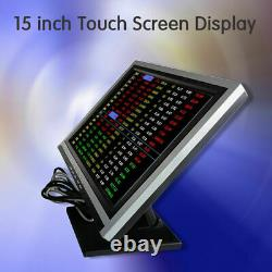 15 Display Touch Screen VGA POS stand LCD Monitor 1024x768 for Bar Retail NEW