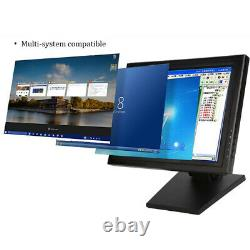 15 Inch Touch Screen LCD Monitor VGA TFT POS Stand Restaurant Kiosk Retail USA