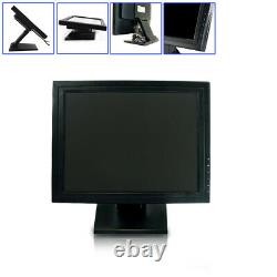 15 LCD Touch Screen LED Monitor with POS Stand USB Restaurant Retail Bar Pub New