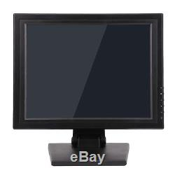 15 Lcd Touch Screen LED Monitor withPOS Stand USB Restaurant Retail Bar Pub 2018