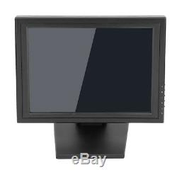 15 Lcd Touch Screen LED Monitor withPOS Stand USB Restaurant Retail Bar Pub RE