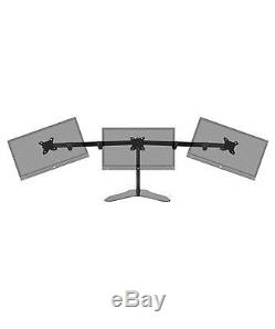 15 To 30 Triple LCD Monitor Mount Free Standing Desk Stand Adjustable 3 Screen