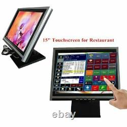 15 Touch Screen LcD Display Monitor, Touch Screen Cash Register with POS Stand