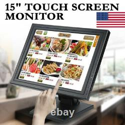 15 Touch Screen Monitor TFT-LCD TouchScreen Monitor USB Monitor With POS Stand US