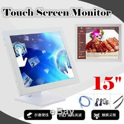 15 inch TFT VGA Touch Screen LCD Monitor POS Stand Restaurant Pub Kiosk Retail