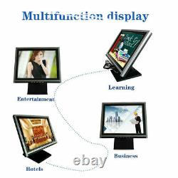 15 inch Touch Screen Monitor LCD VGA POS Retail Restaurant with POS stand 110V