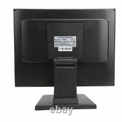 17 POS Stand LED Touch Screen Monitor Restaurant Cafe Kiosk Retail USB VGA USA