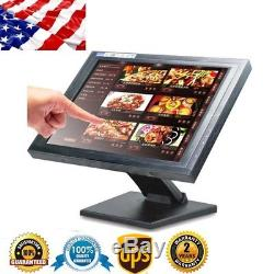 17'' inch Touchscreen LCD USB VGA POS Touch Screen Monitor Stand Retail Kiosk