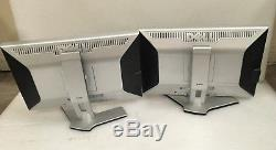 2X Dell 2208WFPt UltraSharp 22 LCD Monitor With VGA, Power Cables & Stands F532H