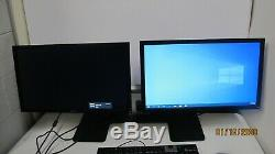 2 Dell E2311HF 23 Widescreen LCD Monitors with MDS14 Dual Monitor Stand