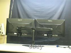 2 NEC AccuSync AS242W 24 LED LCD Widescreen Monitors, Planar Stand