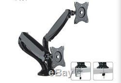2 Pcs Dual LCD Monitor Desk Mount Stand Counterbalance Tilt Swivel Rotate 13-27