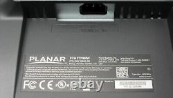 2 Planar PXN2770MW 27 LED-backlit LCD monitor FHD 1920x1080 with stands & Cables