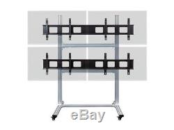 2x2 Video Wall includes (4) NEC X464UN 46 Ultra Thin Monitors with stand