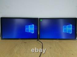 2x DELL P2214HB 22 INCH LCD MONITOR WithDISPLAY PORT CORD