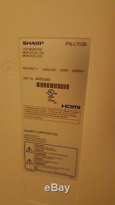 70 HD Touchscreen LCD TV Sharp PN-L702B (with stand, PC, and extras!)