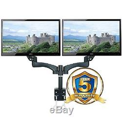 AG12D Gas Spring Desk Mount LCD Monitor Double Twin Arm Stand with vesa bracket &