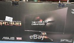 ASUS Rog Swift PG348Q 34Inch Curved Gaming Monitor with stand and all cables