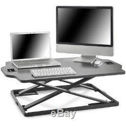 Adjustable Standing Desk Monitor Stand Computer Screen Vonhaus Mount Tv Lcd Arm