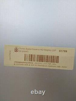 Apple A1083 Cinema HD Display 30 DVI LCD Monitor 2560 x 1600