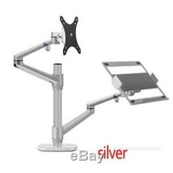 Arm-Stand 32inch LCD Monitor Desktop Stand Dual Arm + 17 Laptop Mount