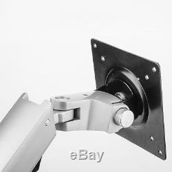 Articulating Foldable LCD Monitor Desk Mount Stand Aluminum 110kg Silver