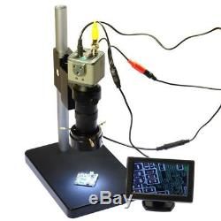 BNC AV 130X Digital Camera 800TVL Industrial Microscope with LCD Monitor Stand