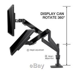 Bestand Dual Monitor Arm Mount Stand for LCD LED Computer Screen up to 27. New