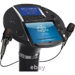 Bluetooth Singing Machine Pedestal Karaoke System 7LCD Color Monitor Microphone