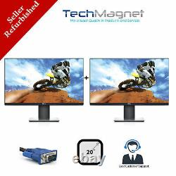 DUAL Matching Dell 20 Widescreen LCD Monitors withDUAL LCD Stand Model Vary