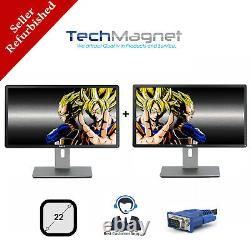 DUAL Matching Dell 22 Widescreen LCD Monitors withDUAL LCD Stand Model Vary