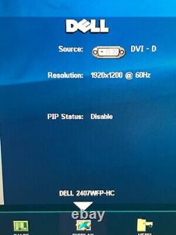 Dell 24 LCD Display, Portrait Landscape 2407WFPb USB VGA DVI Component S-Video