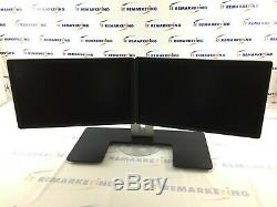 Dell MDS14 Dual Monitor Stand with (2x) P2214Hb 22 LCD Monitors GRADE A Read