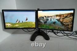 Dell P2214H Dual 22 Monitor 1080p Full HD VGA DVI DP with4-Port USB Stand KW14V