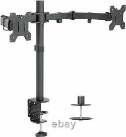 Dell U2415 24 LED LCD Monitor 2-Pack with Adjustable Desk Mount Monitor Stands