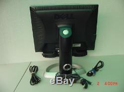 Dell UltraSharp 2001FP 20 wide screen LCD Monitor VGA DVI USB SOUND BAR