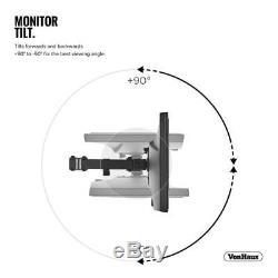 Dual Arm Desk Mount Clamp Monitor Stand Tv Screen Vonhaus Bracket Screens Lcd