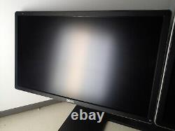 Dual Dell 20 P2214Hb LCD Monitor with Dual Dell Stand, VGA Cable, and Power Cable