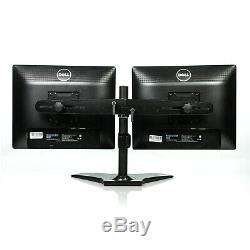 Dual Dell P1913S 19 LED LCD Monitors with Planar Dual Monitor Stand Grade B