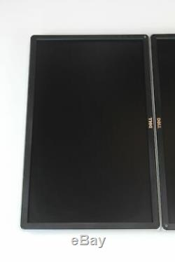 Dual Dell P2214Hb 22 Wide Screen Monitors LCD LED IPS HD 1080p Grade B NO STAND