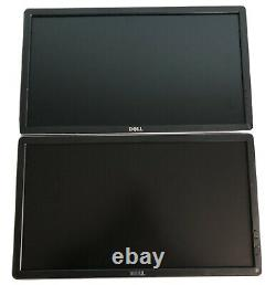 Dual Dell Professional P2014Ht 20 Widescreen LCD Monitor NO STANDNO CABLES