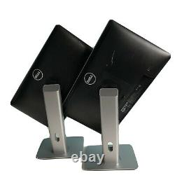 Dual Dell Professional P2014Ht 20 Widescreen LCD Monitor with STAND No Cables