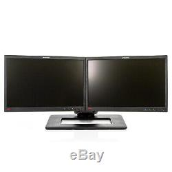 Dual Lenovo LT2252 22 1680x1050 LED LCD Monitors with Adjustable Stand Grade A