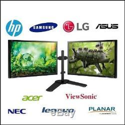 Dual Matching 24 LCD Flat Panel Refurbished Gaming Monitor Screens Grade B