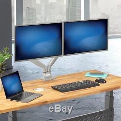 Dual Monitor Full Motion Tilt Swivel Desk Mount Stand For 2 LCD Screens 1534