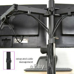 Dual TV Screen Computer Monitor LCD Desk Stand Mount Adjustable Articulating