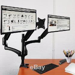 Duronic DM553 Spring Triple LCD LED Sprung Desk Mount Arm Monitor Stand Bracket