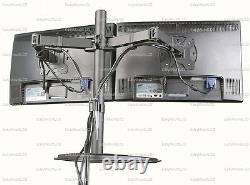 EZM Basic Dual LCD Monitor Mount Stand Free Standing Up to 27 (002-0009)