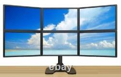 EZM Deluxe Hex LCD Monitor Mount Stand Free Standing up to 28 (002-0023)